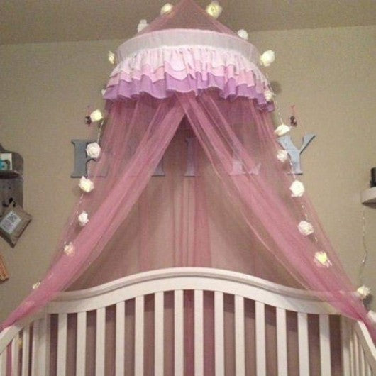 Elegant Lace Princess Round Dome Bedding Net