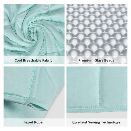"7lbs 41"" x 60"" Premium Cooling Heavy Weighted Blanket-Light Green"