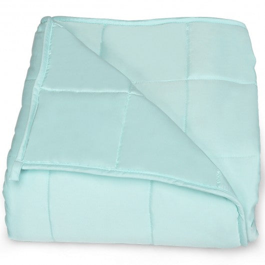 Soft Fabric Breathable Premium Cooling Heavy Weighted Blanket-15 lbs