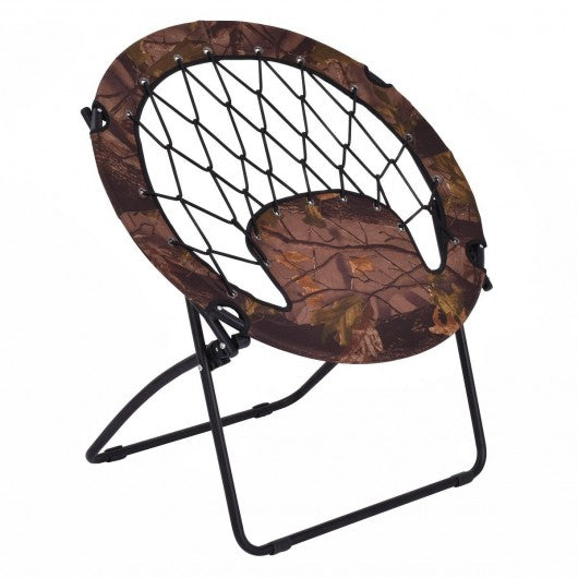 Outdoor Camping Folding Round Bungee Chair-Army Uniform