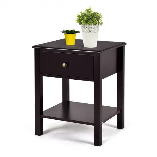 Brown Nightstand End Table