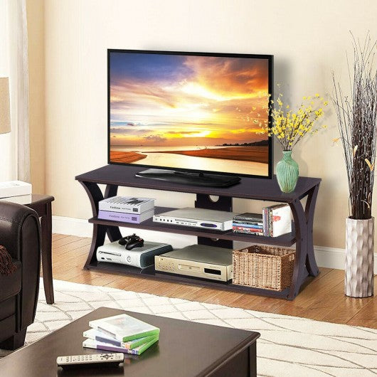 3-Tier Entertainment Center Storage Cabinet TV Stand