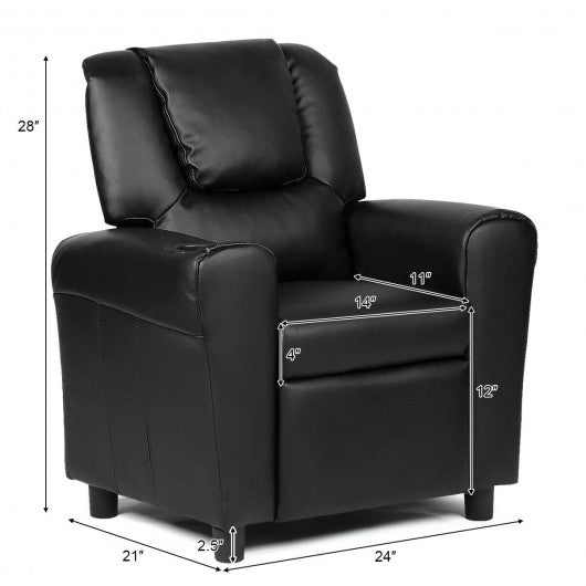 Kids Recliner Armchair Sofa-Black