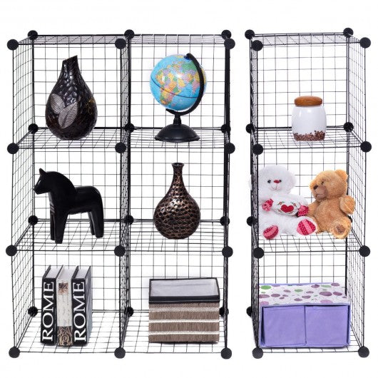 DIY 12 Cube Grid Wire Cube Shelves