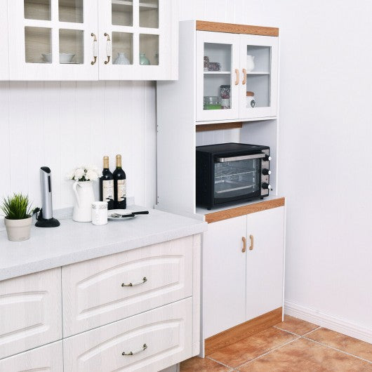 Tall Shelves Microwave Cart Stand Kitchen Storage Cabinet