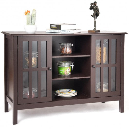 "Wood TV Stand Console Cabinet for 45"" TV-Brown"