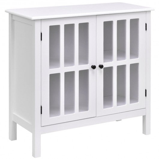 Glass Door Sideboard Console Storage Buffet Cabinet