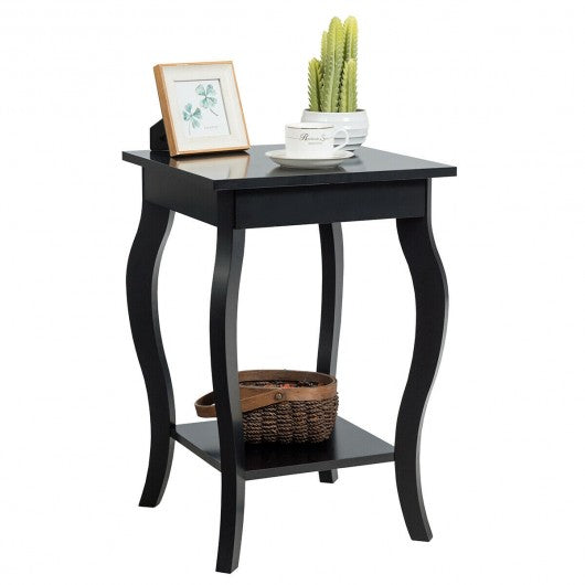 Accent Sofa End Side Table-Black