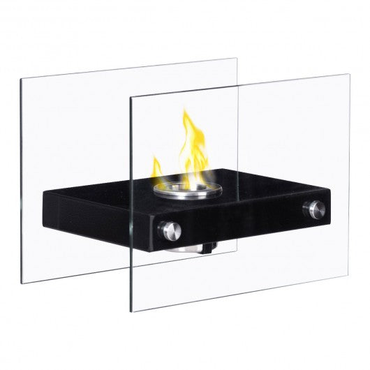 Portable Ventless Firepit Bio Ethanol Tabletop Fireplace