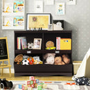 Kids Storage Unit Baby Toy Organizer Children Bookshelf Bookcase-Brown