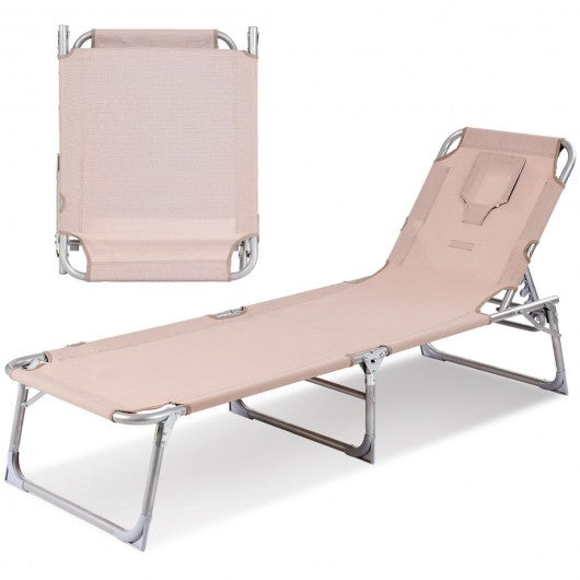 Patio Deck Adjustable Chaise Lounge Recliner Chair