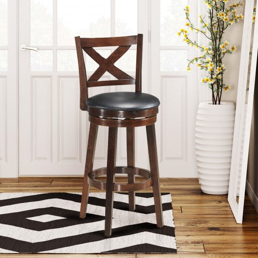 Swivel Counter Height X-back Upholstered Dining Chair-29""