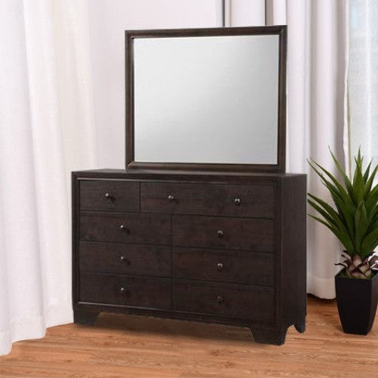 Home Luxury 9 Drawers Storage Dresser Mirror Cabinet Set