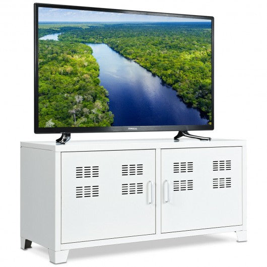 "40"" Television Stand with Two Doors Cabinet"