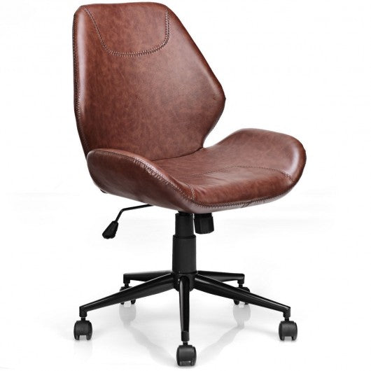 Office Home Leisure Mid-back Upholstered Rolling Chair
