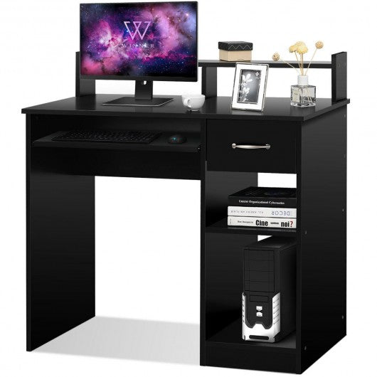 Home Office Study PC Laptop Computer Desk with Drawer