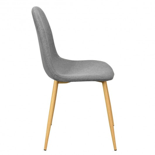 Set of 2 Gray Accent Dining Chairs