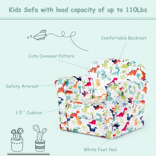 Toddler Children Armrest Cute Lovely Single Sofa