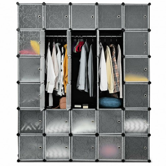DIY 30 Cube Portable Closet Clothes Wardrobe Cabinet