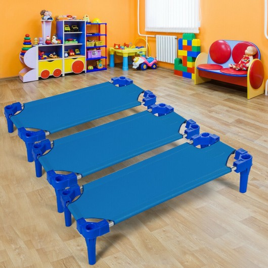 Pack of 6 Stackable Daycare Standard Rest Cots-Blue