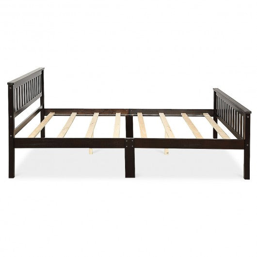 Wood Bed Frame Support Platform with Headboard and Footboard