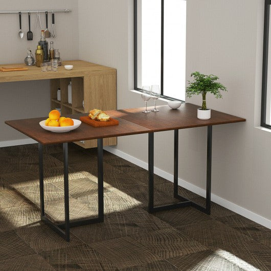 "Metal Frame Wood Top Console Dining Table Rectangular Kitchen Table-63"" Desk"