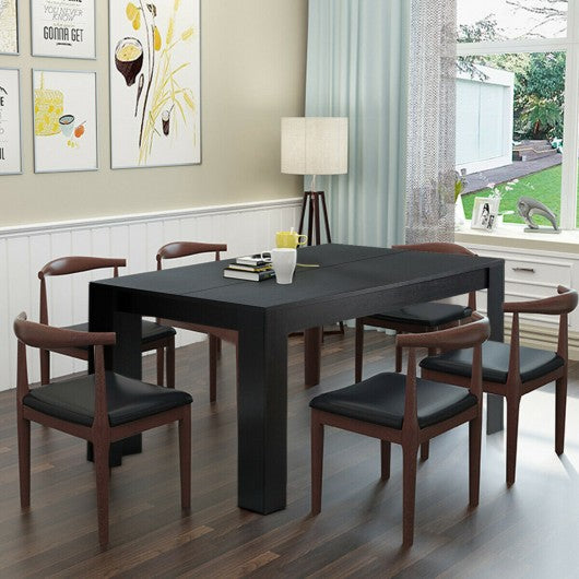"63"" Rectangular Modern Dining  Kitchen Table for 6 People"