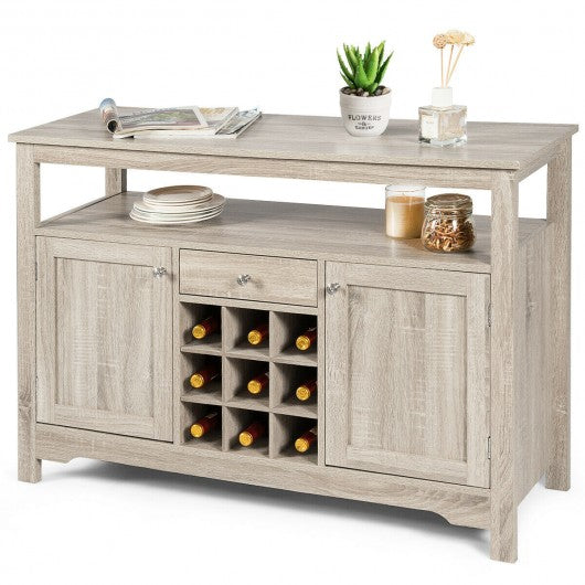 Buffet Server Sideboard Wine Cabinet Console-Gray