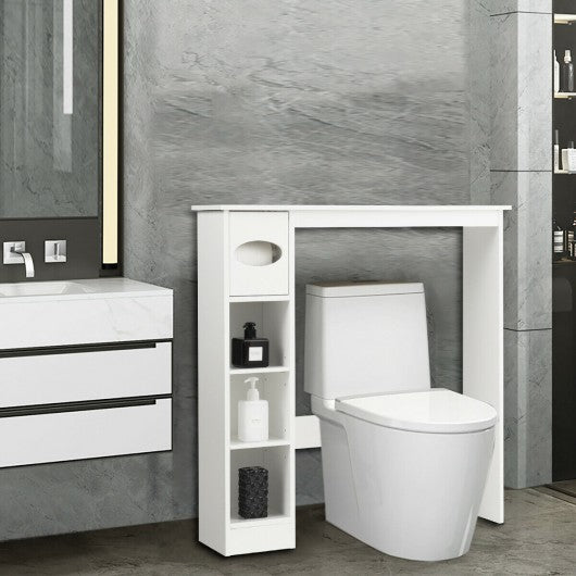Wooden Toilet Storage Cabinet Bathroom
