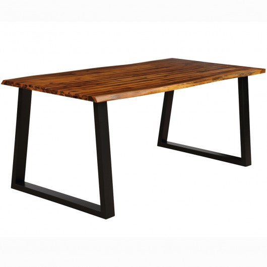 Rectangular Acacia Wood Dining Table Rustic Indoor Furniture