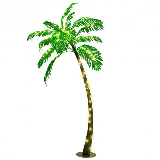 5 Ft Artificial Lighted Palm Tree with LED Lights