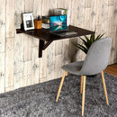 Space Saver Folding Wall-Mounted Drop-Leaf Table-Brown