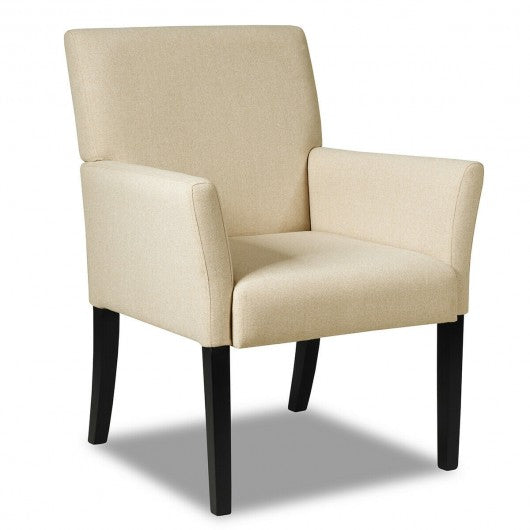 Executive Guest Chair Reception Waiting Room Arm Chair-Beige