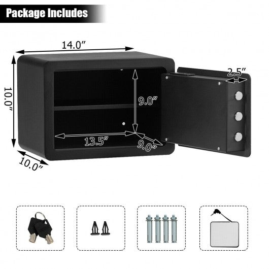 Fingerprint Safe Box Security Box with LED Light