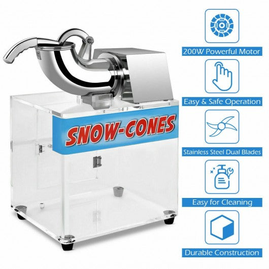 Electric Snow Cone Machine Ice Shaver Maker