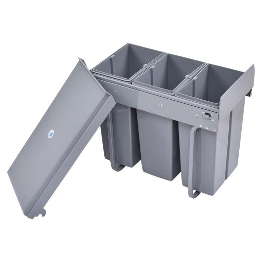8 gal 3 Compartment Pull Out Recycling Waste Bin