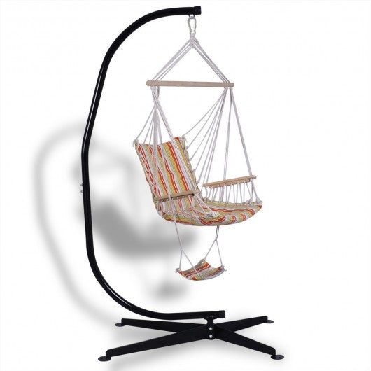 Solid Steel C Hammock Frame Stand