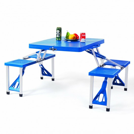 Outdoor Folding Camping Table and Bench Set