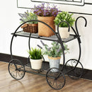 Heavy Duty Metal Flower Cart Plant Stand