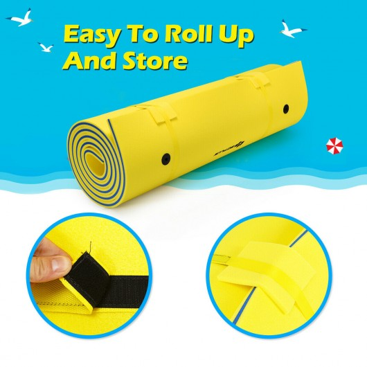 3 Layer Floating Water Pad Foam Mat-Yellow