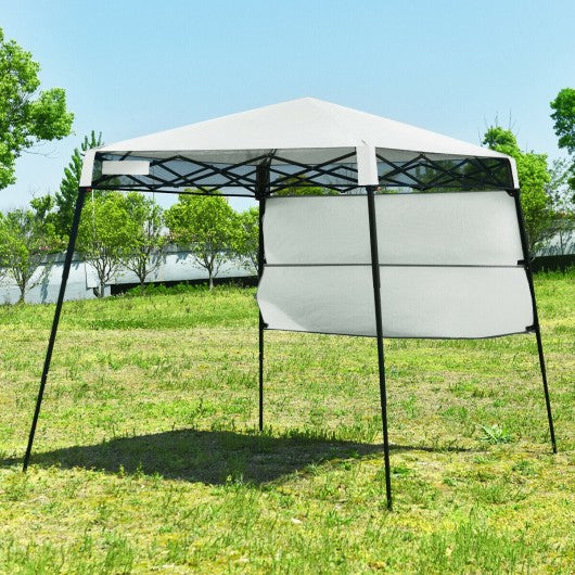 7 x 7 FT Sland Adjustable Portable Canopy Tent w- Backpack-White