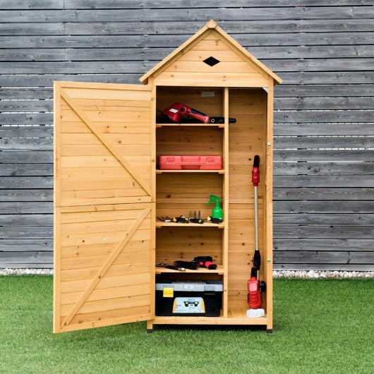 Wooden Outdoor Lockable Garden Tool Storage