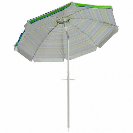 6.5FT Sun Shade Patio Beach Umbrella with Carry Bag-Green