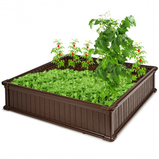 "48.5"" Raised Garden Bed Planter for Flower Vegetables Patio-Brown"