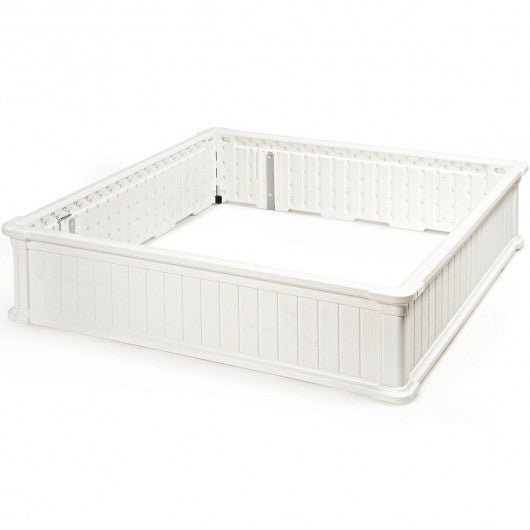 "48.5"" Raised Garden Bed Planter for Flower Vegetables Patio-White"