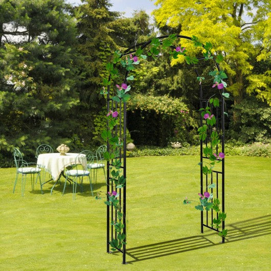 7.2Ft Garden Decoration Climbing Plants Arch Steel Arbor