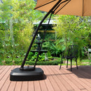 Patio Cantilever Offset Umbrella Base with Wheels