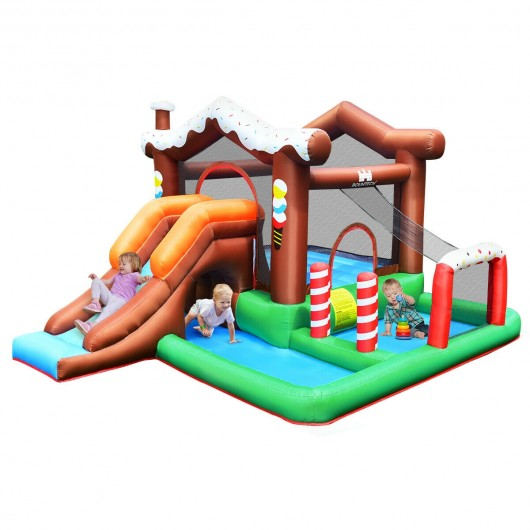 Kids Inflatable Bounce House Jumping Castle Slide Climber Bouncer