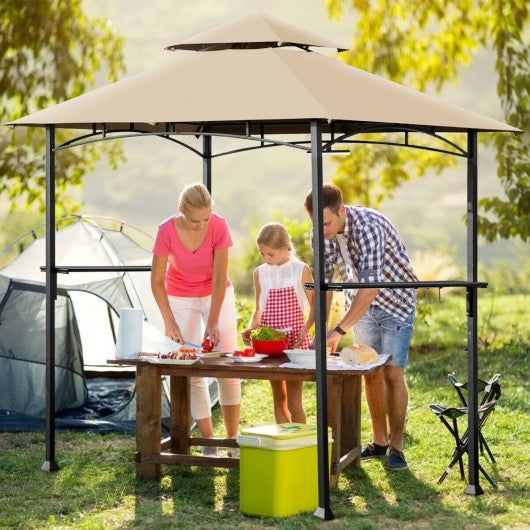 8' x 5' Outdoor Patio Barbecue Grill Gazebo