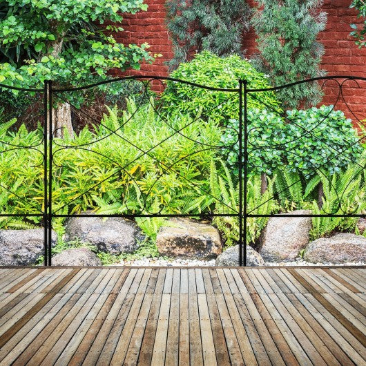 5-Panel 24in x 10ft Folding Decorative Garden Fence